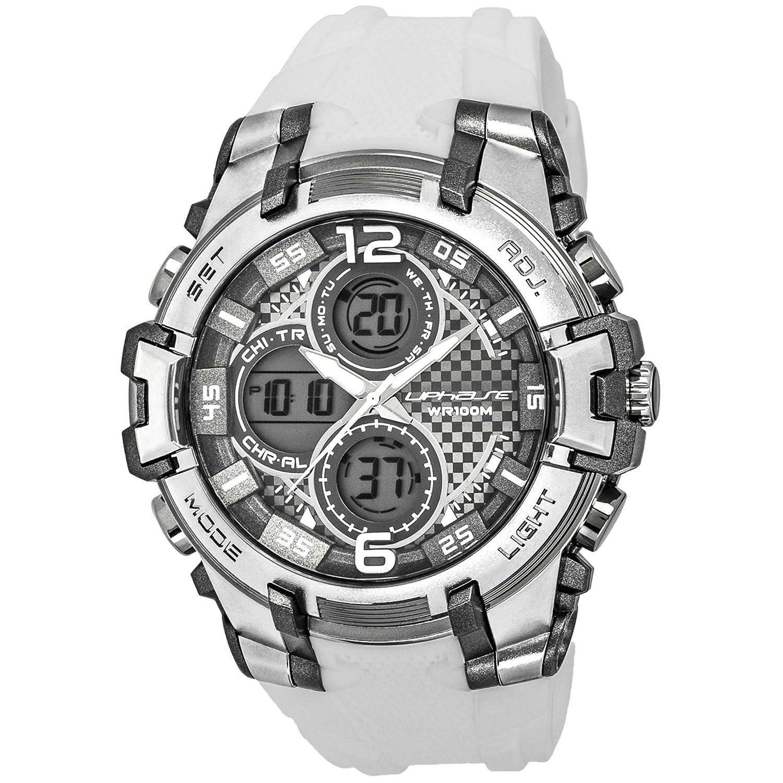 UphasE Reloj analógico-Digital para Hombre de Cuarzo con Correa en plástico UP704-100