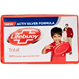 Lifebuoy Total 10 Soap Bar, 125g (Pack of 4, Save Rupees 14)
