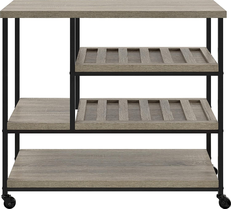 Amazon.com: Ameriwood Home Elmwood Multi Purpose Rolling Cart, Weathered Oak:  Kitchen U0026 Dining