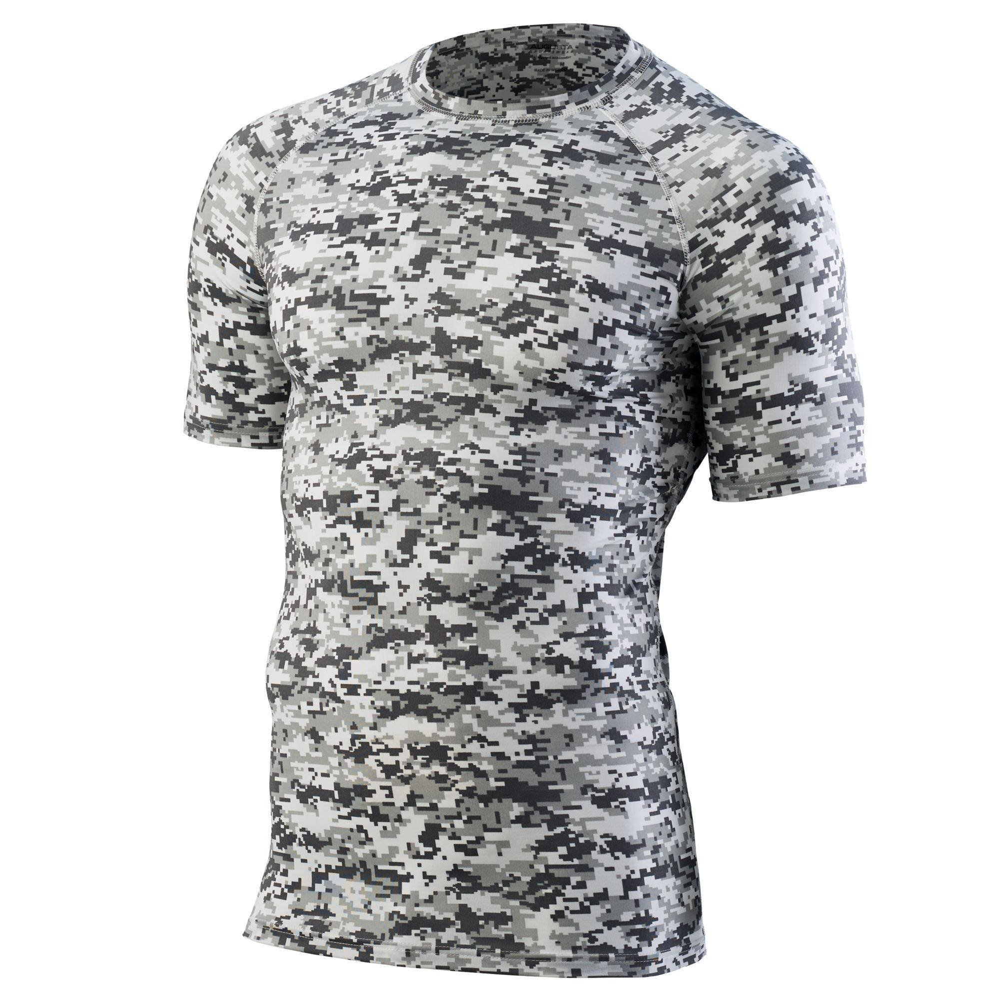 Augusta Sportswear Boys' Hyperform Compression Short Sleeve Shirt S White Digi