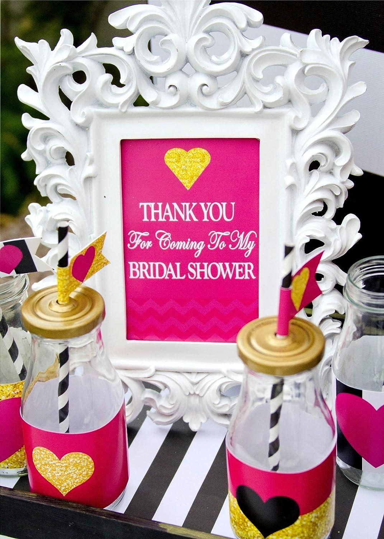 Amazon.com: THANK YOU SIGN - Bridal Shower Sign - Wedding Sign ...