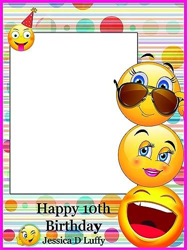 Amazon Personalized Emoji Happy Faces Happy Birthday Photo