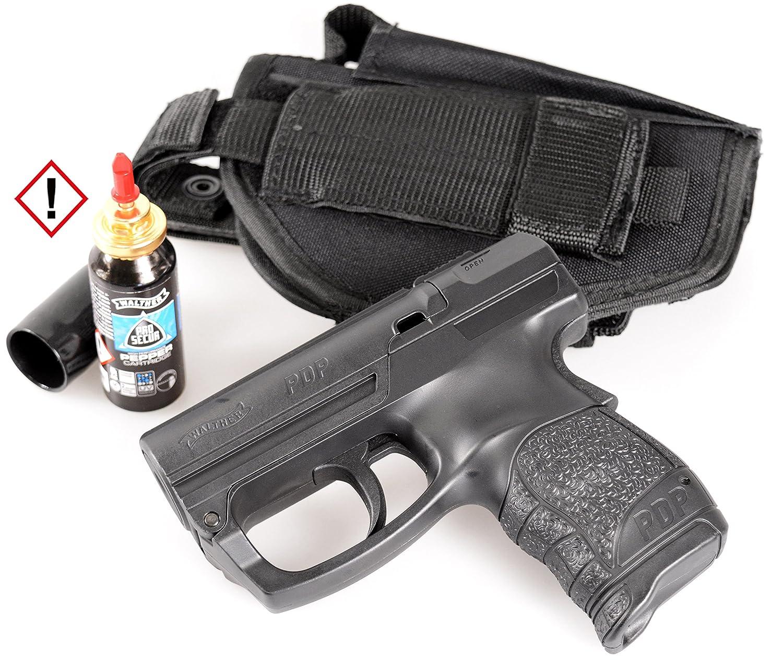 Security-Discount Germany - Personal Defense Pistole Walther PDP im Set mit Pfefferkartusche und HQ-Gürtelholster