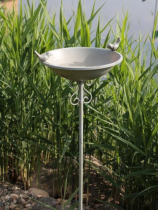 AmaCasa Bebedero para pájaros pájaro baño pájaro Platillos Agua Bebedero para calentar agua Carcasa Conector gris hierro: Amazon.es: Jardín