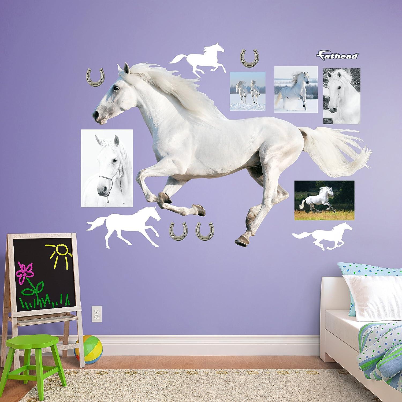 Amazon Fathead White Horse Running Real Big Wall Decor Home