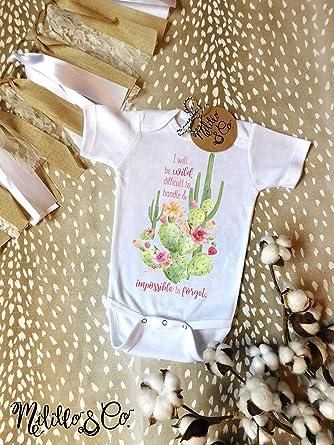 6e5b03af7c26 Amazon.com  Infant Cactus Onesie Cute Cactus One Piece Wild Child Baby  Outfit Baby Girl Cactus Top Trendy Cactus Onesie Boho Baby Girl Outfit  Southwest 3-6 ...
