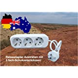 3 fach Reiseadapter für Australien, Neuseeland, Argentinien, Papua-Neuguinea, Uruguay
