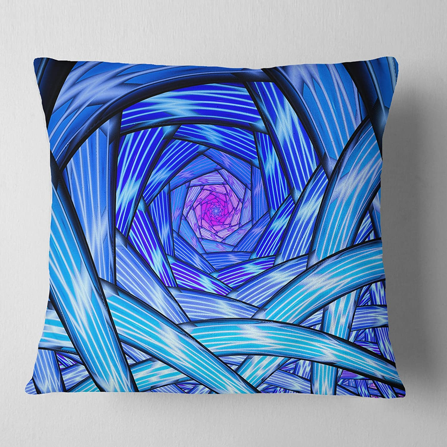 in Sofa Throw Pillow 16 in Designart CU12064-16-16 Mysterious Psychedelic Fractal Pattern Abstract Cushion Cover for Living Room x 16 in