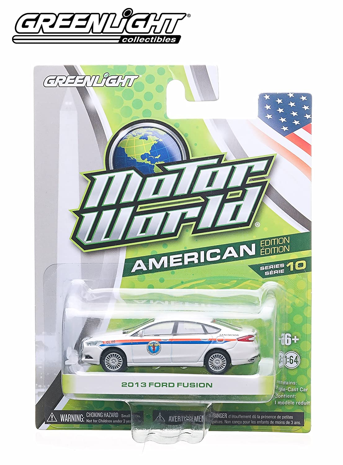2013 Ford Fusion (bianca)  2014 Motor World  Series 10 American Edition 1 64 Scale Die-Cast Vehicle by Motor World