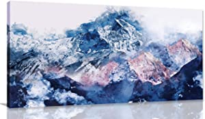 Abstract - Wall Art for Living Room, Beautiful Nature's Landscape Wall Decor for Bedroom Snow Mountain Landscape Modern Wall Decor - Home Decor - Large Canvas Wall Art Framed Ready to Hang Size 24x48