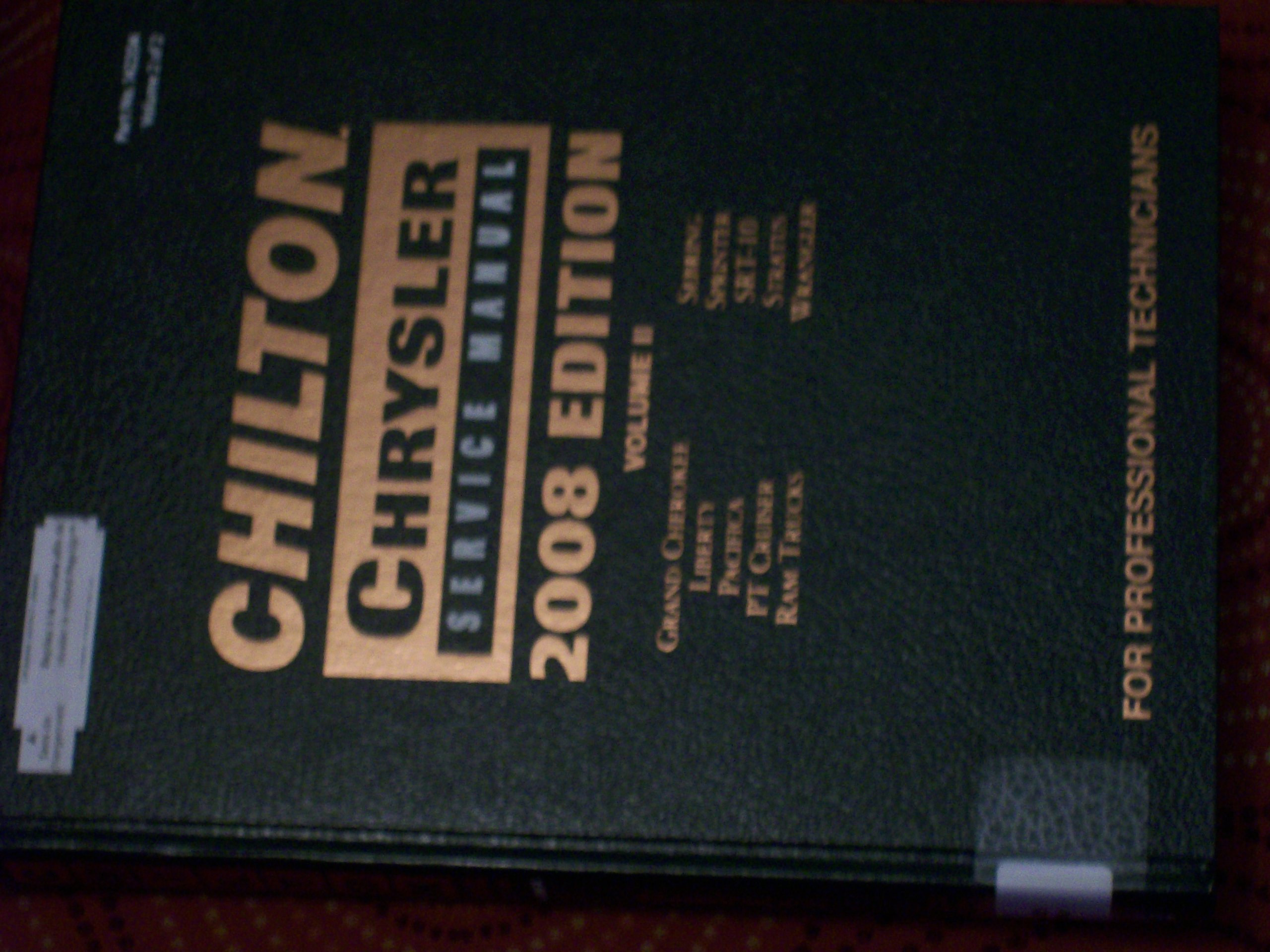 Chilton Chrysler Service Manual, Vol. 2: Nick D'Andrea: 9781428322073:  Amazon.com: Books