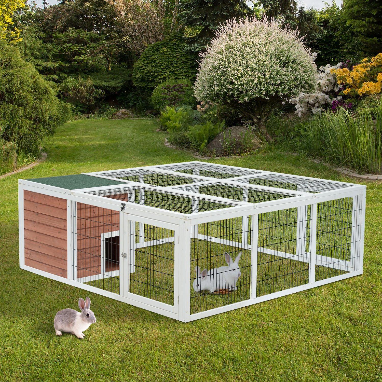 Rabbit enclosures radiator cover decor