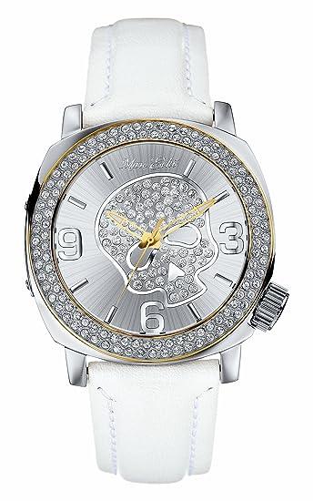 Marc Ecko E13524G2 - Reloj Unisex de Cuarzo, Correa de Piel Color Blanco: Marc Ecko: Amazon.es: Relojes