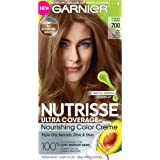 Garnier Nutrisse Ultra Coverage Hair Color, Deep Dark Natural Blonde (Candied Cashew) 700 (Packaging May Vary)