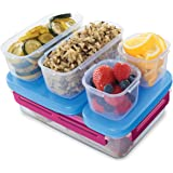Rubbermaid LunchBlox Leak-proof Entree Lunch Container Kit, Large, Beet Red (2000579)