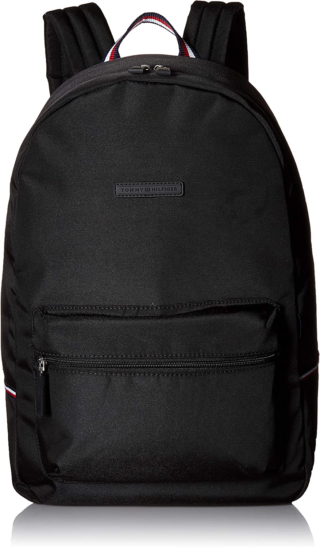 tommy hilfiger black nylon backpack