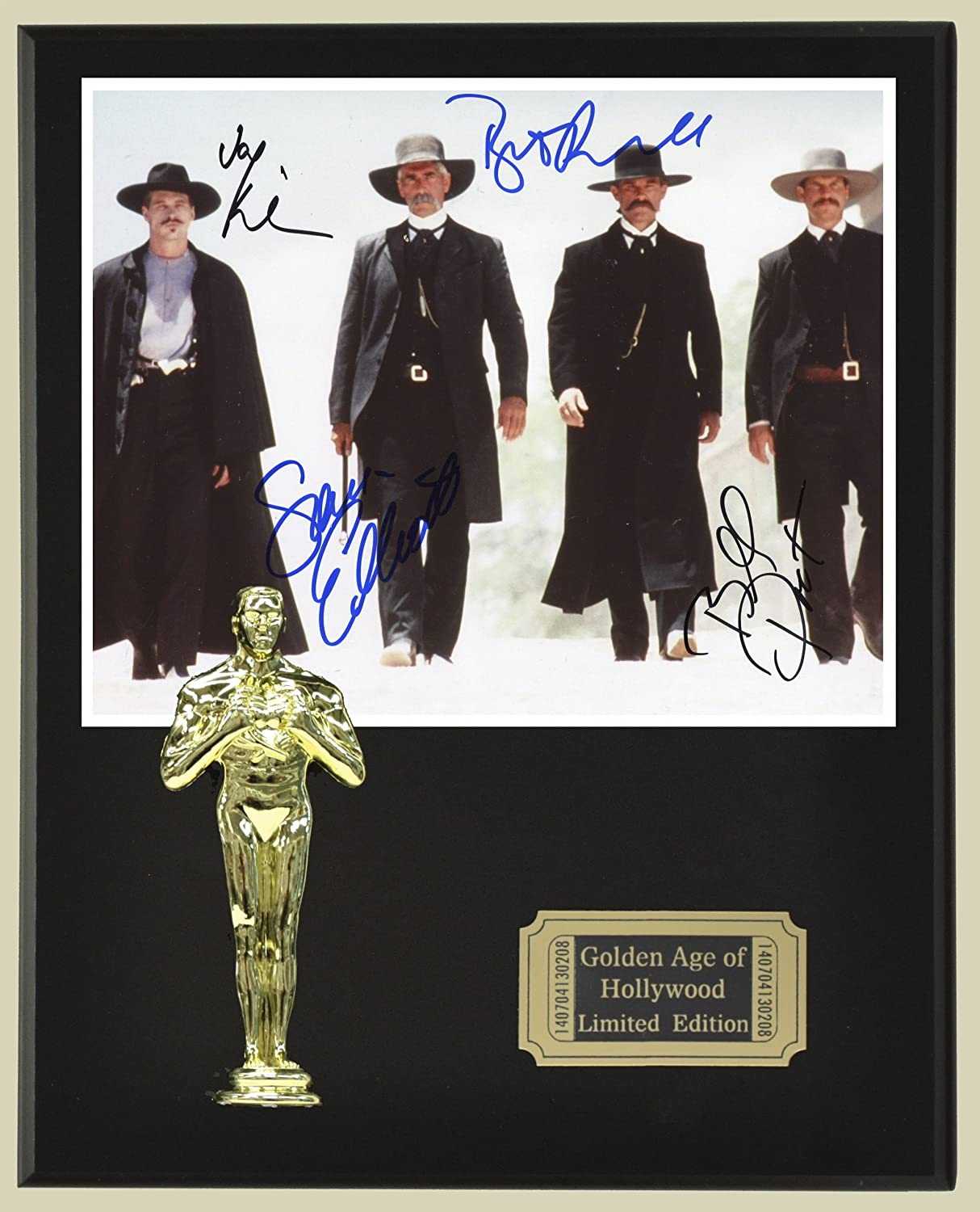 Tombstone Cast Signed Reproduction Autographed 8 x 10 Photo LTD Edition Oscar Movie Display Gold Record Outlet