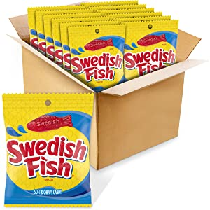 Swedish Fish Flavor Candy, Pack of 12