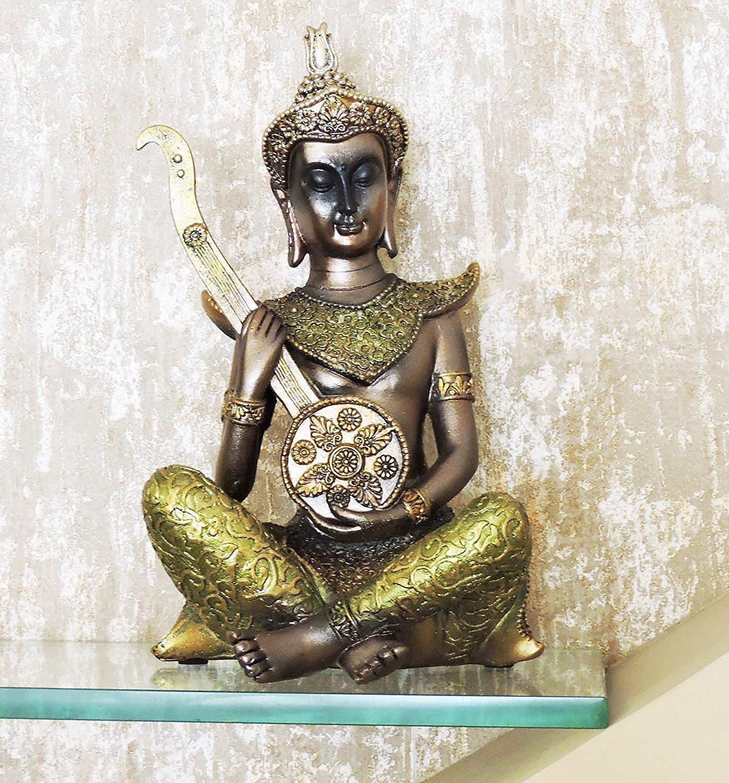 Creativegifts Thai Musicians Statue for Home Decor Gift - Mridangam + Free key chain (#227-2) by Creativegifts
