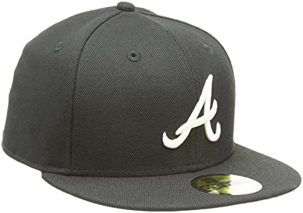 brand new 2a93c 350d4 discount code for mlb atlanta braves black with white 59fifty fitted cap 6  7 8 0a585