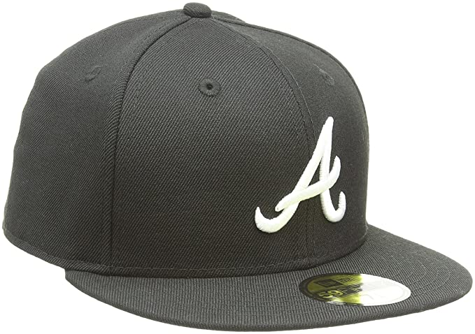 new arrival 7303a d6bcb ... switzerland mlb atlanta braves black with white 59fifty fitted cap 7 1  8 dc696 44071