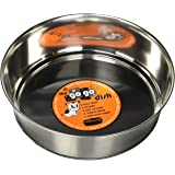 GoGo Pet Products Stainless Steel Weighted No Skid Pet Dog Bowl, 3-Quart