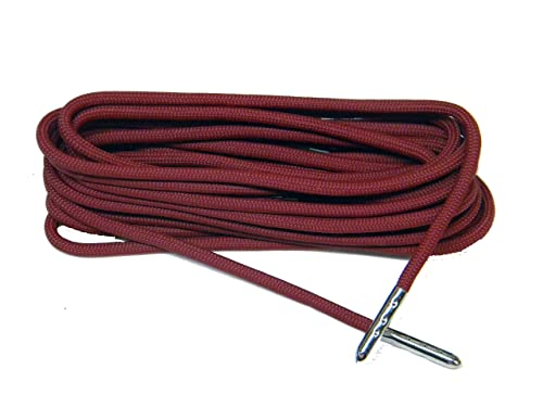 Amazon 63 Inch Burgundy Wine 550 Paracord Steel Tip Shoelaces