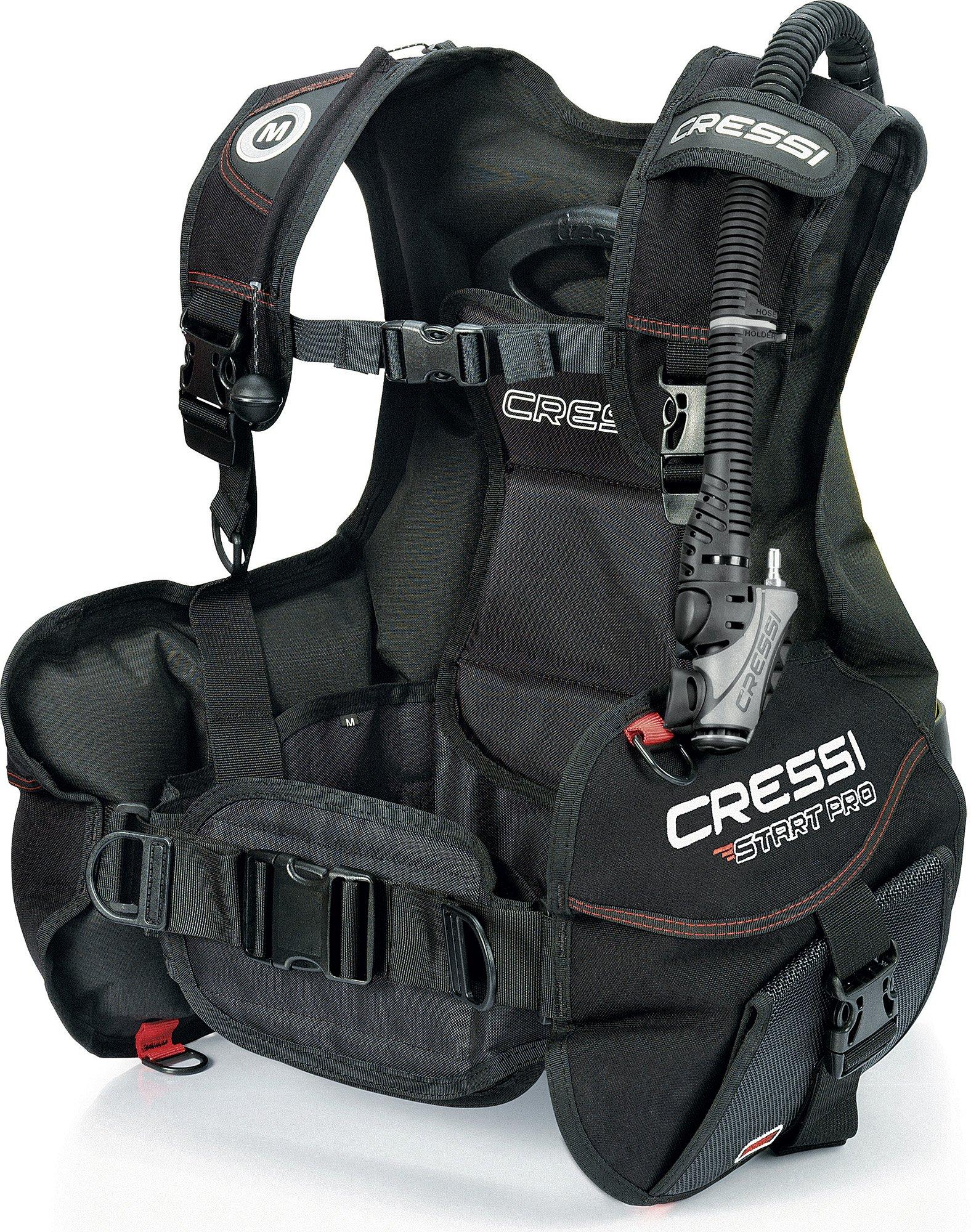 Cressi Start Pro 2.0, Black/red, M