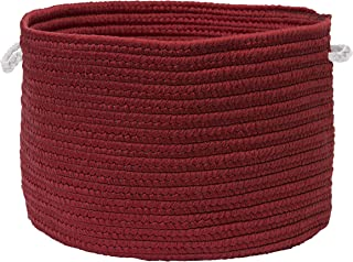 """product image for Colonial Mills Colorful Braided Toy Basket, 20""""x20""""x12"""", Ruby"""