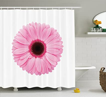 Amazon Ambesonne Pink And White Shower Curtain Fresh Gerber