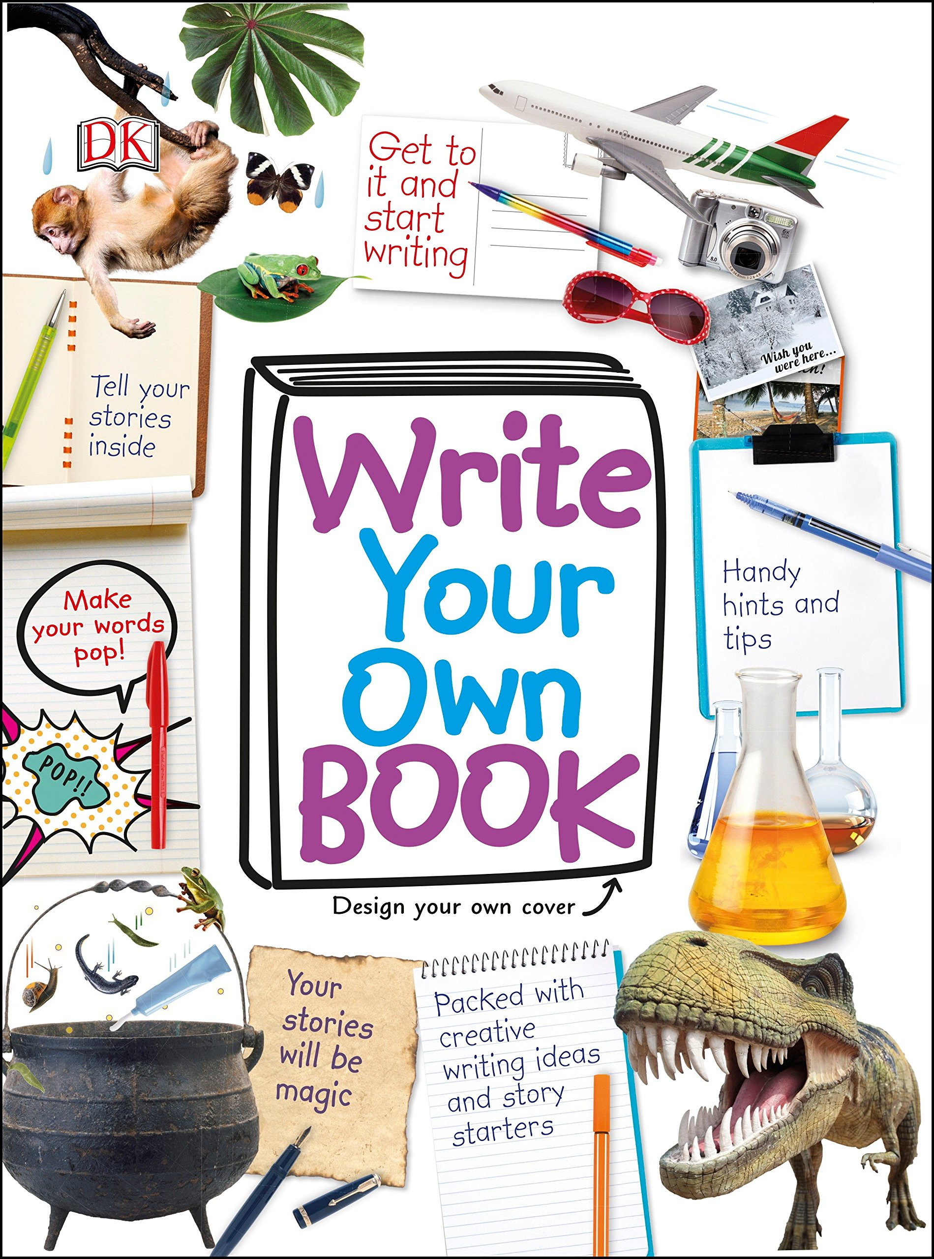 Write your story quirky Necklace Little tiny real blank books