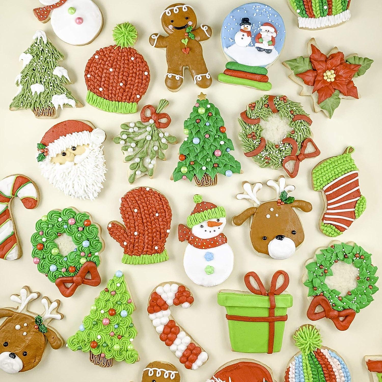 Christmas Cookie Cutters H Reindeer Snowflake Star Gingerbread Man Mistletoe