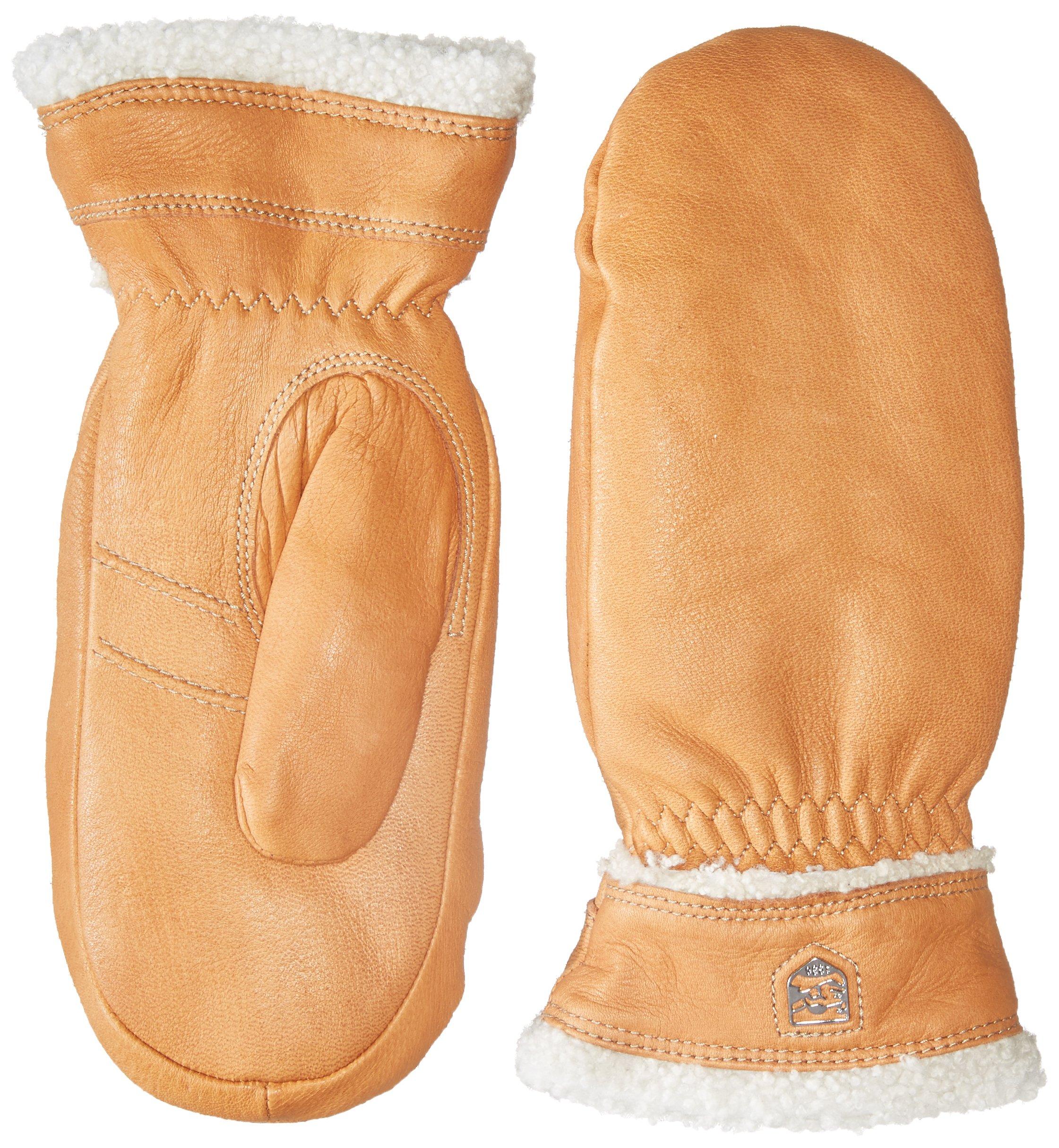 Hestra Deerskin Primaloft Mitt Gloves, Cork, 6