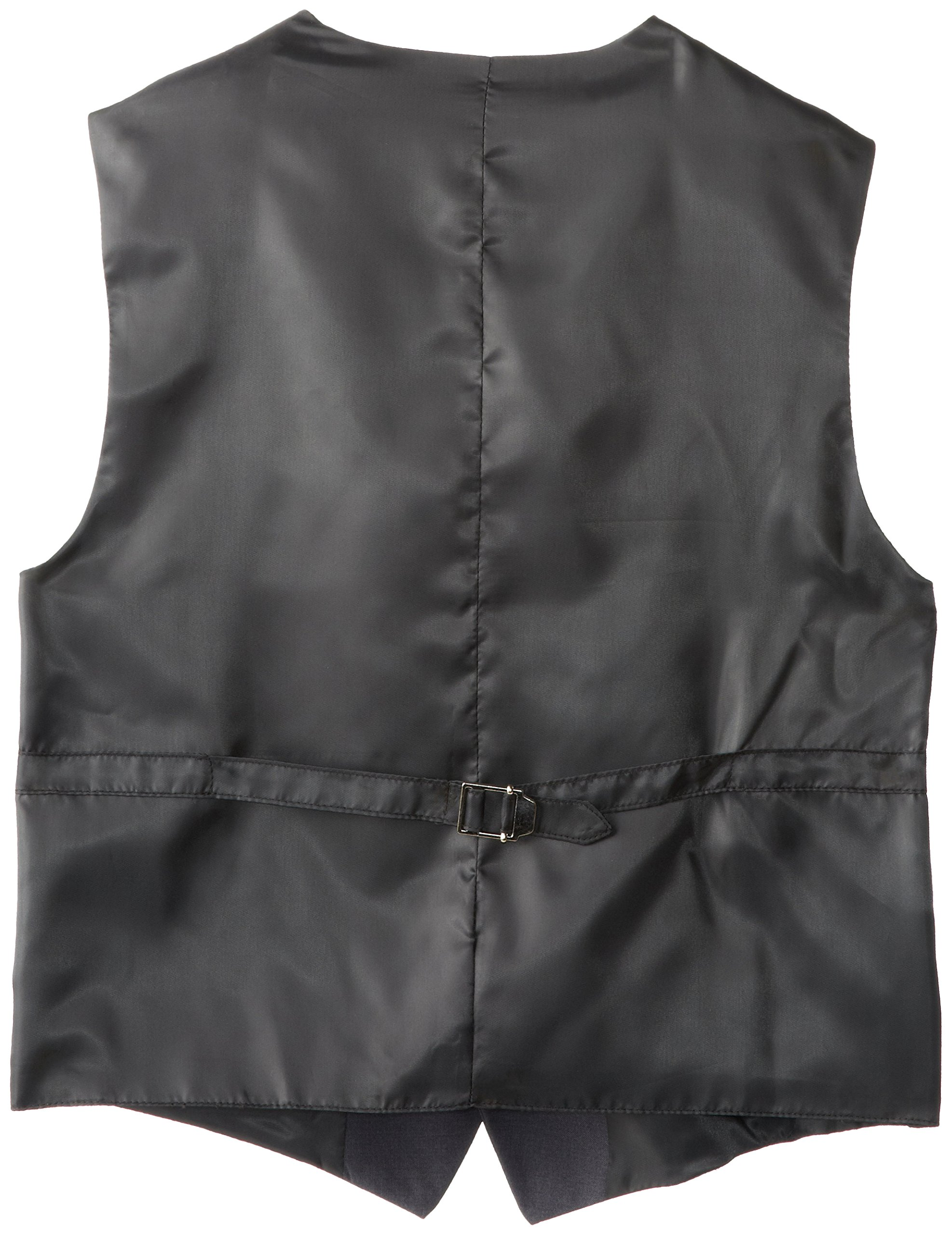 Calvin Klein Big Boys' Fine Line Twill Vest, Dark Charcoal Heather, Large by Calvin Klein (Image #2)