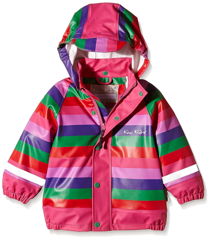 Kozi Kidz Regenjacke Koster Stripe - Chubasquero para niña, color multicolor, talla DE: 90 cm 5055381812174