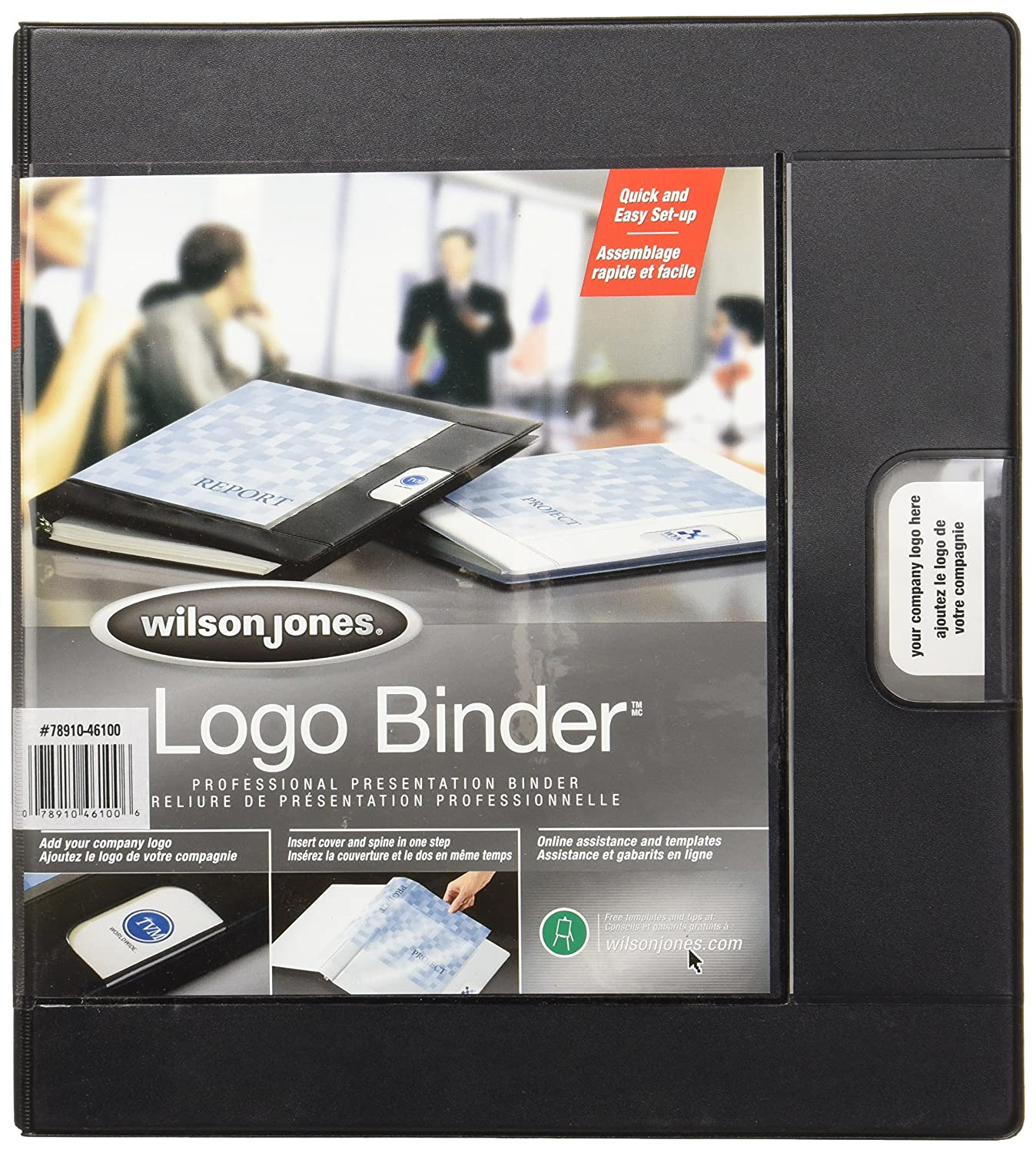 Amazon wilson jones custom imprint presentation binder 1 amazon wilson jones custom imprint presentation binder 1 inch capacity letter size black w46100 reference ring binders office products pronofoot35fo Images