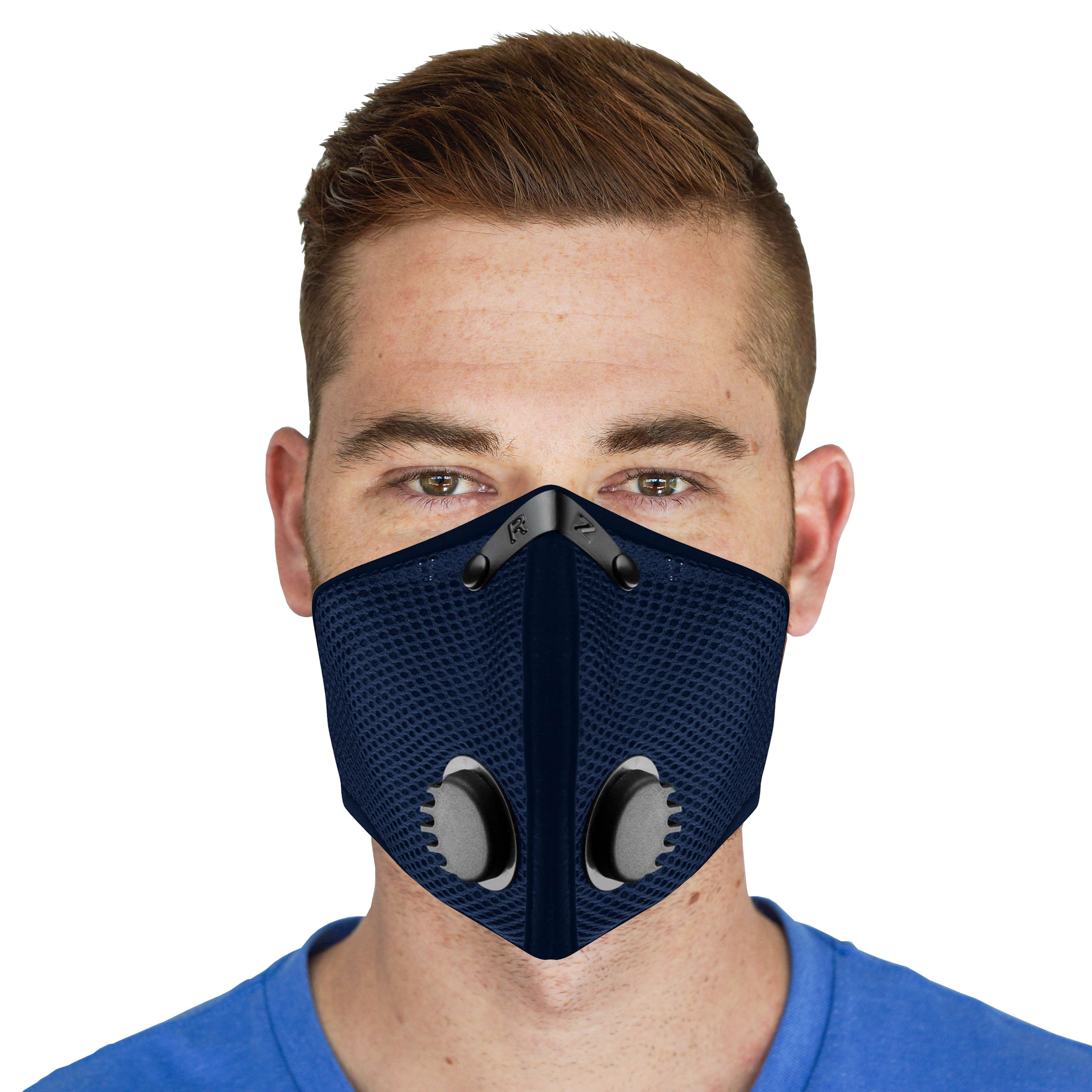 M2 Mesh Reusable Dust/Pollution RZ Mask - Navy - X-Large by RZ Mask