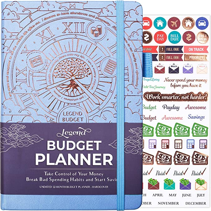 Amazon.com : Legend Budget Planner - Deluxe Financial Planner Organizer & Budget Book. Money Planner Account Book & Expense Tracker Notebook Journal for Household Monthly Budgeting & Personal Finance – Periwinkle : Office Products