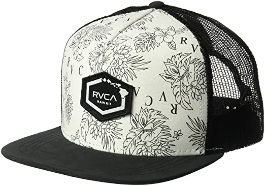 RVCA Men s Hawaii HEX Patch Trucker HAT 9cf01f7efb6