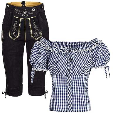 Mufimex Conjunto de Traje Regional de Mujer, pantalón de Piel ...