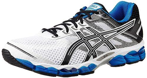 6b57ead1d36 ASICS Men s Gel-Cumulus 15 White and Black Royal Mesh Running Shoes - 13 UK