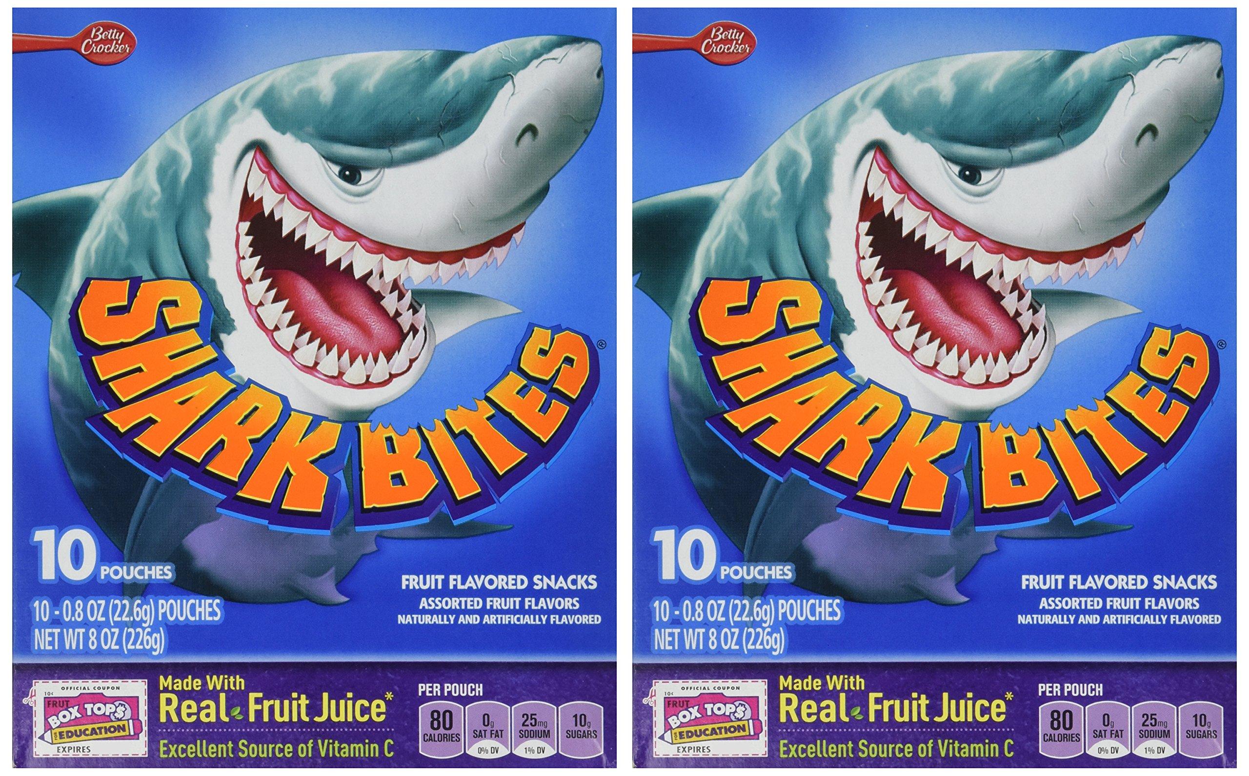 Betty Crocker Shark Bites Fruit Flavored Snacks - 8 oz box (2 Pack) by Betty Crocker (Image #2)
