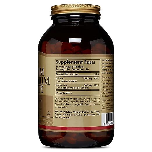 Amazon.com: Solgar – Calcium Magnesium Citrate, 250 Tablets: Health &  Personal Care