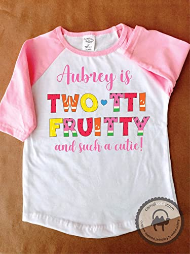 Image Unavailable Not Available For Color Personalized Tutti Fruity 2nd Birthday Shirt