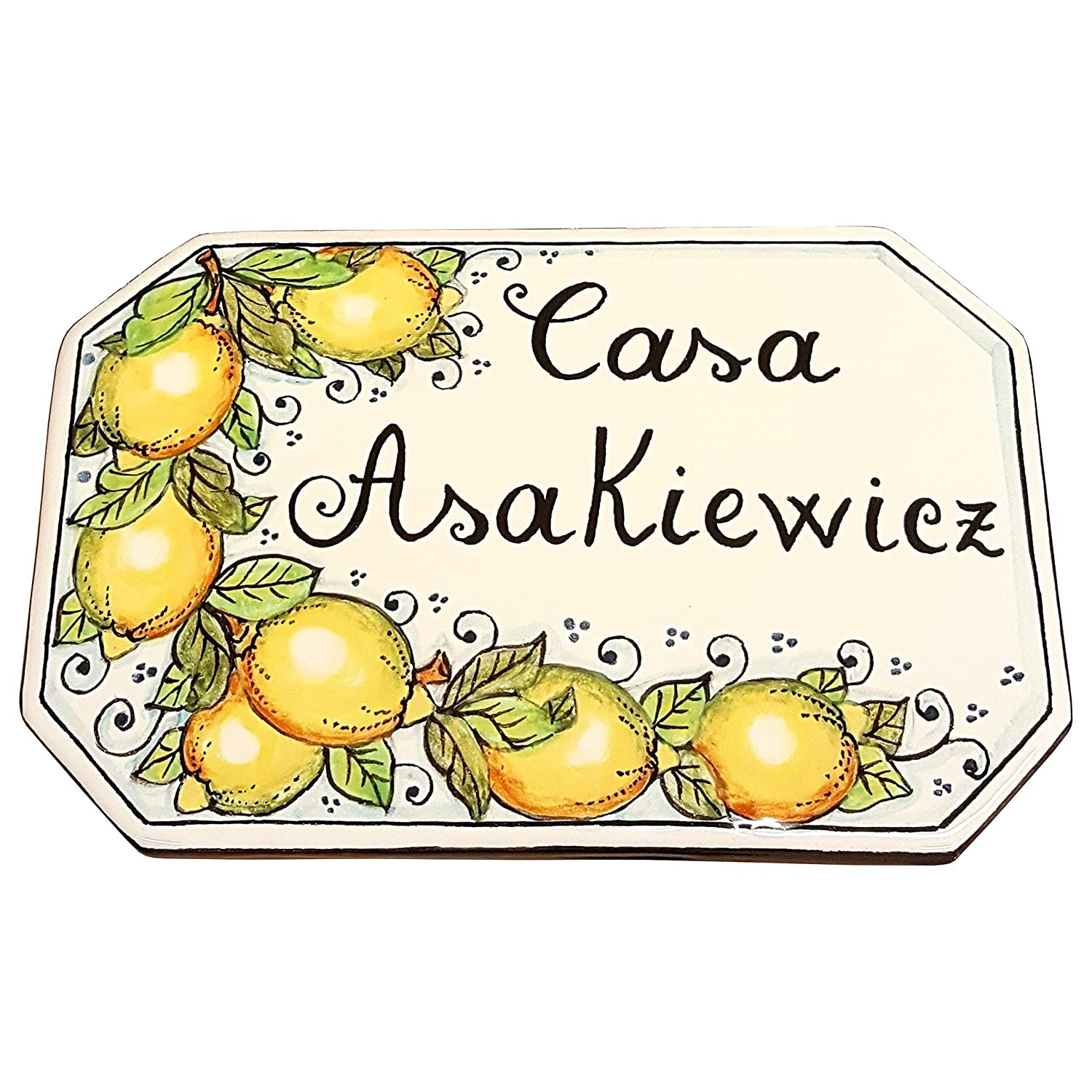 Amazon ceramiche darte parrini italian ceramic art pottery amazon ceramiche darte parrini italian ceramic art pottery tile custom house number civic address plaques decorated lemons hand painted made in dailygadgetfo Images