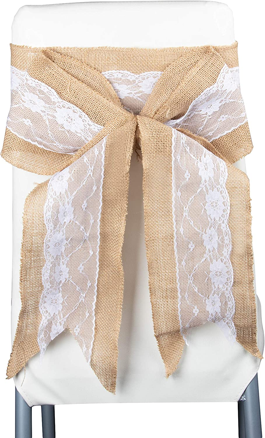 Shabby Chic Hessian Jute Burlap Flower//Bowknot Rustic Wedding Table Decor Crafts