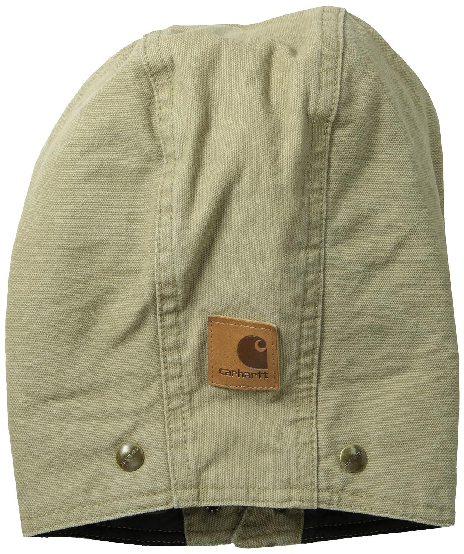 Mens A149-DPB One Size Carhartt Sportswear Carhartt Mens Quilt Lined Sandstone Hood Deep Blue Closeout