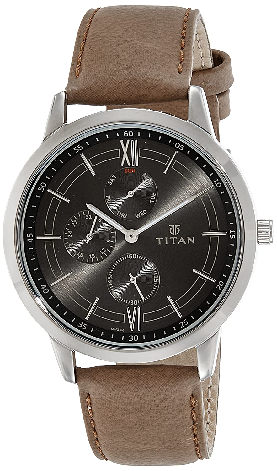 Titan Men s Chronograph Watch – Quartz, Water Resistant