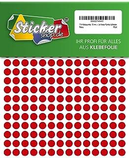 10 mm aus PVC Folie Markierungspunkte Kreise Punkte Aufkleber wetterfest 714 Klebepunkte gelb