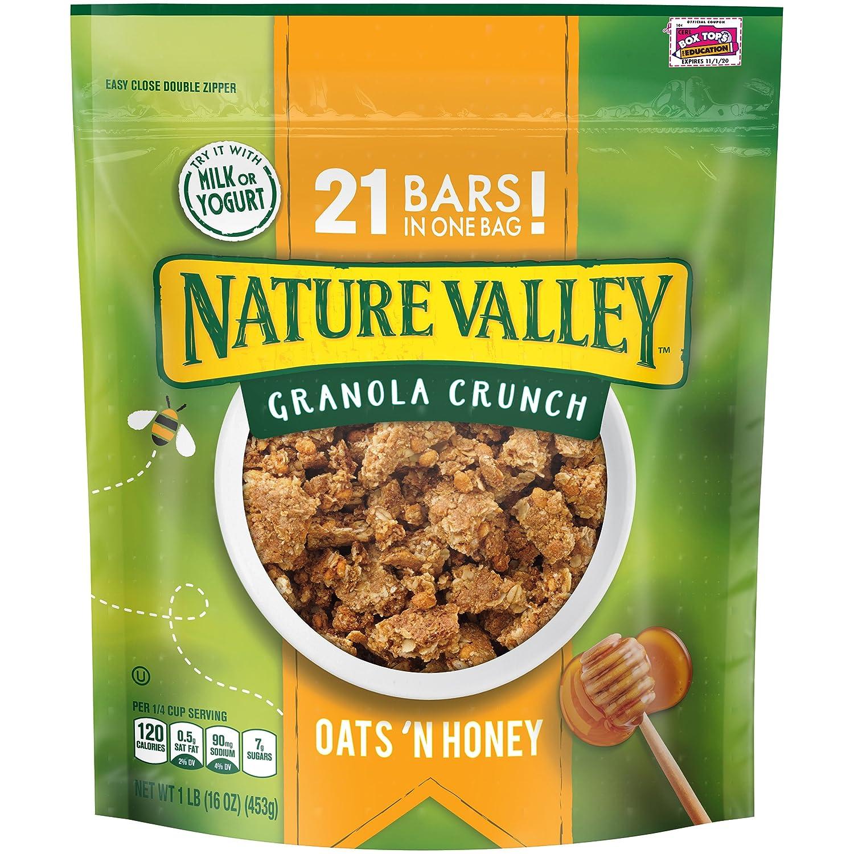 Nature Valley Granola Crunch, Oats 'n Honey, 16 Ounce